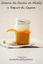 Persimmon and honey cream with goat's milk yogurt